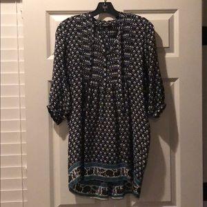 Tolani 100% silk patterned tunic, size S